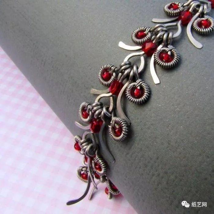 视频和图解教程) 绕线项链  视频来自:iartjewelry绕线编绳首饰diy
