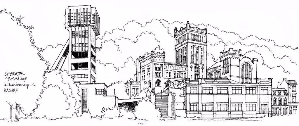 手绘和ps结合建筑图纸