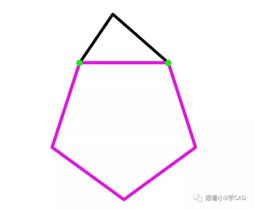教育正文step1绘制60的水平线段然后端点分别绘制半径r=40和50的