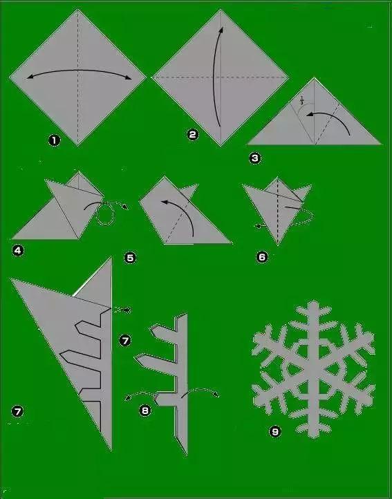 【剪纸教程】六角雪花,快来动手试试吧!