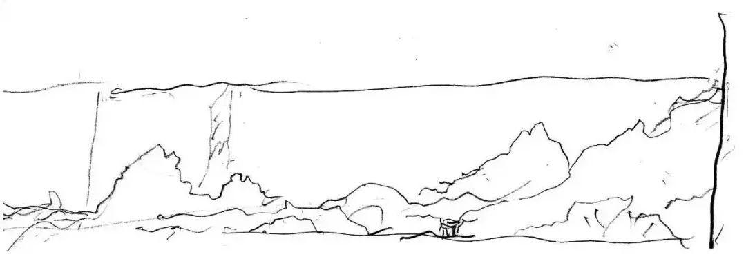 △ 苏州博物馆片石假山手绘图
