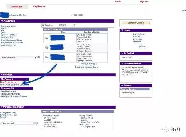 NYU|同学,这里有一份你的学费缴纳单需要签收!