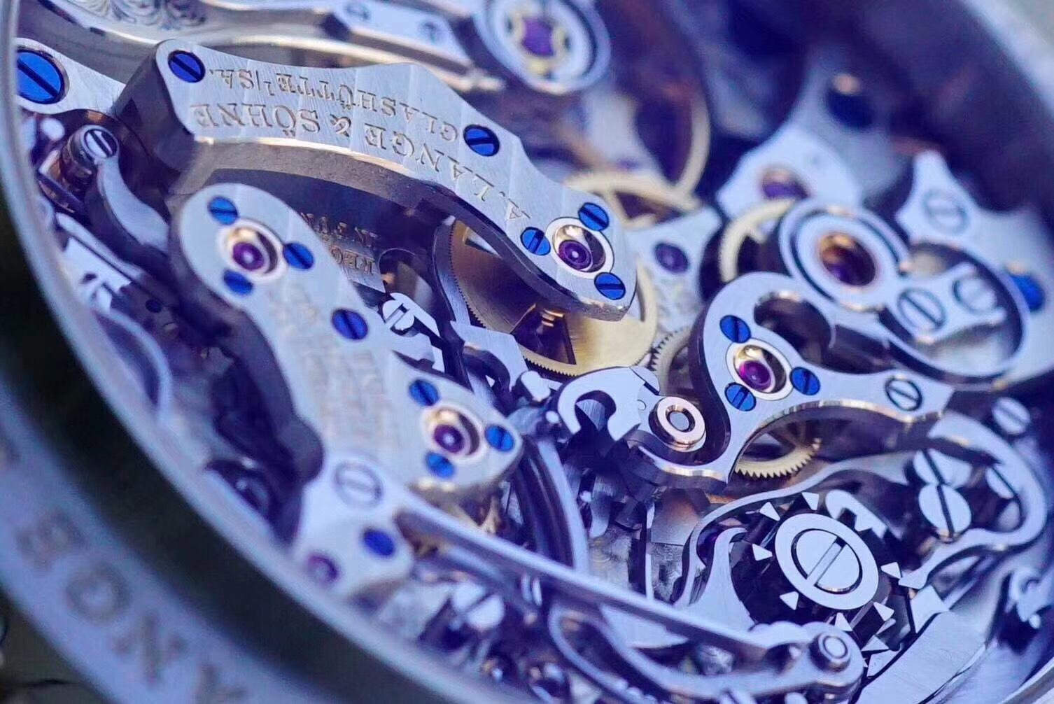 德国匠心钟表品牌 朗格 万年历405.035铂金 精湛德国机械美丽图片