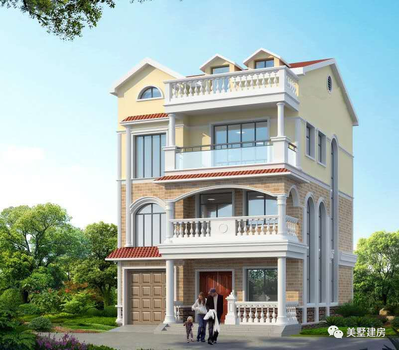 农村四层时尚别墅,可自住也可做民宿,漂亮的像宫殿一样!图片
