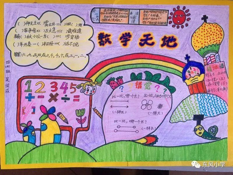 【校园动态】东风小学四年级数学组举行手抄报制作比赛
