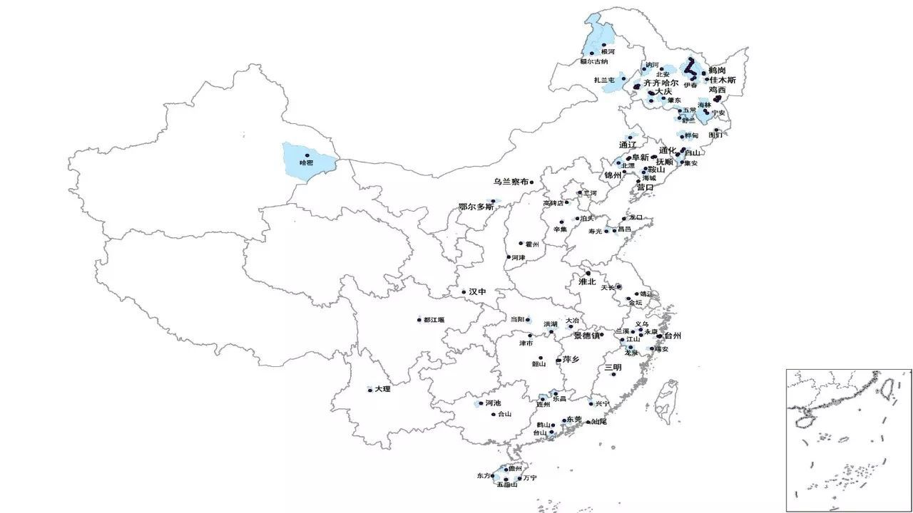 吴康(2017):利用2007-2016中国城市建设统计年鉴发现的收缩城市地图