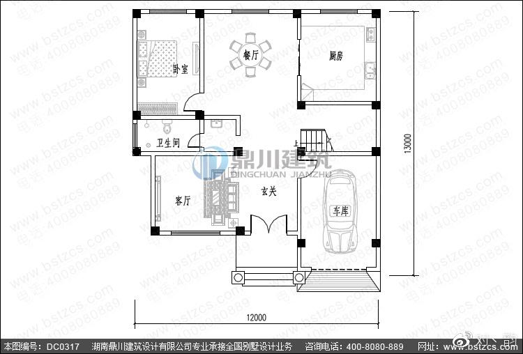 新农村三层别墅设计_新农村三层带车库小别墅设计图纸