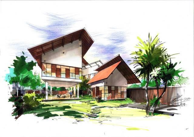 王姜马克笔手绘-建筑 景观篇
