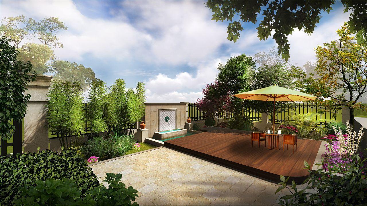 小别墅庭院装修设计的注意事项有哪些?中空效果图欧式别墅图片