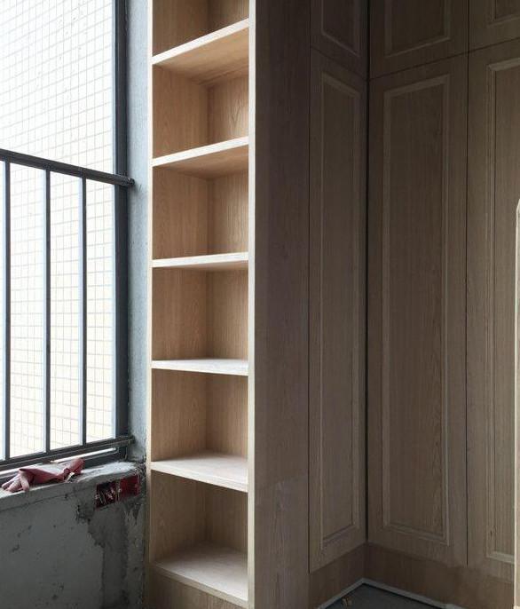 创意木工悬空书柜
