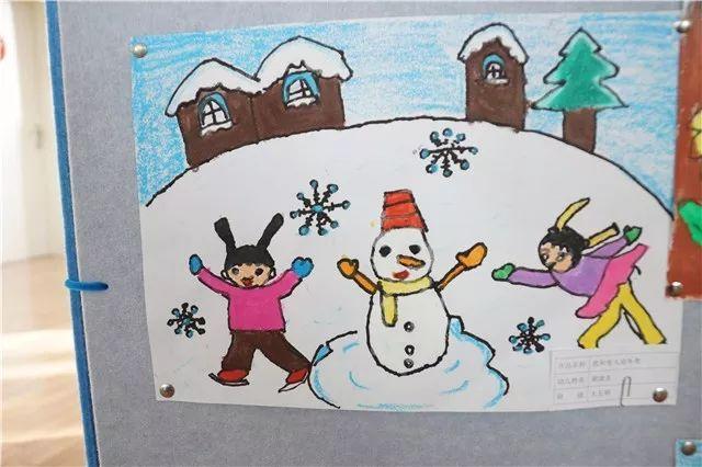作品内容包括:冰雪项目比赛,2022年的家乡,我为冬奥做贡献等.图片