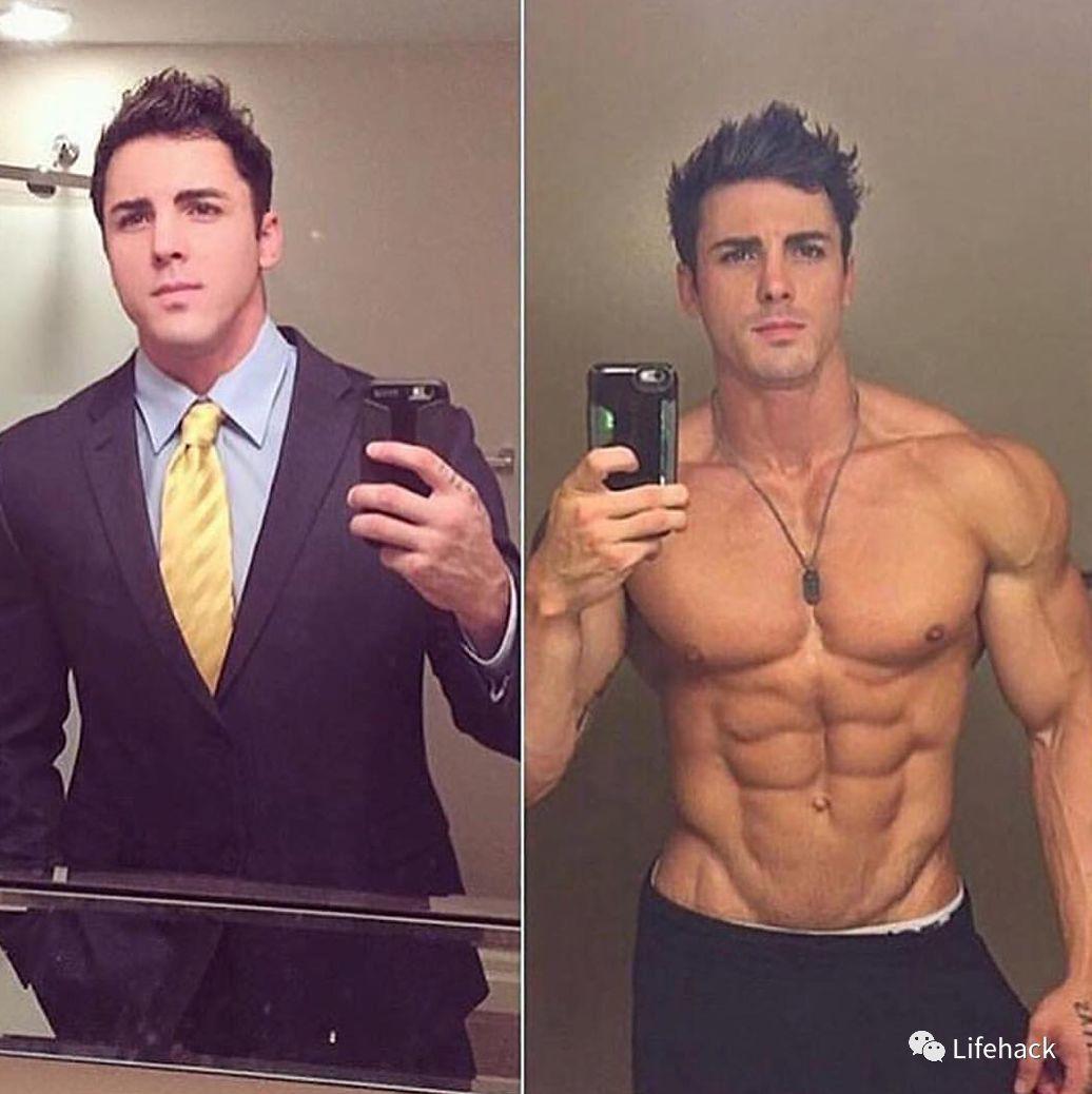男人脱衣前 VS 脱衣后,被帅到了