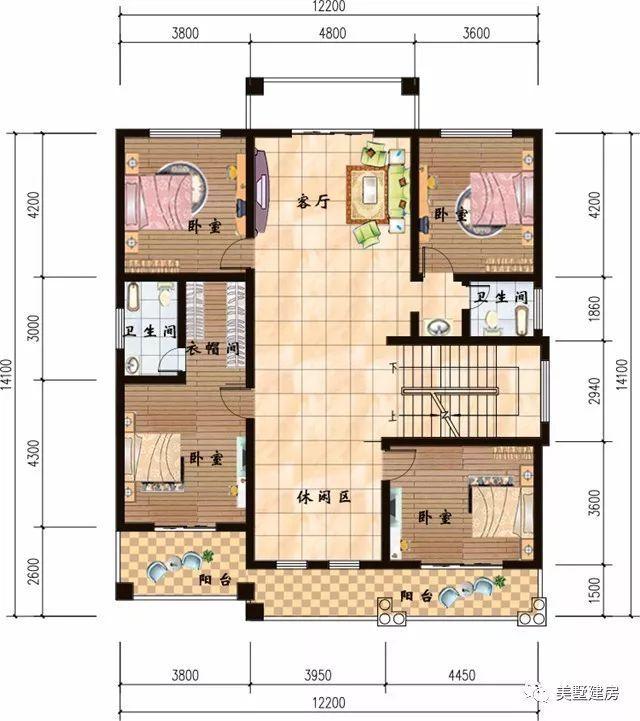 美墅建房(图片右下角)免费领取五百套农村自建房别墅设计施工图纸!图片