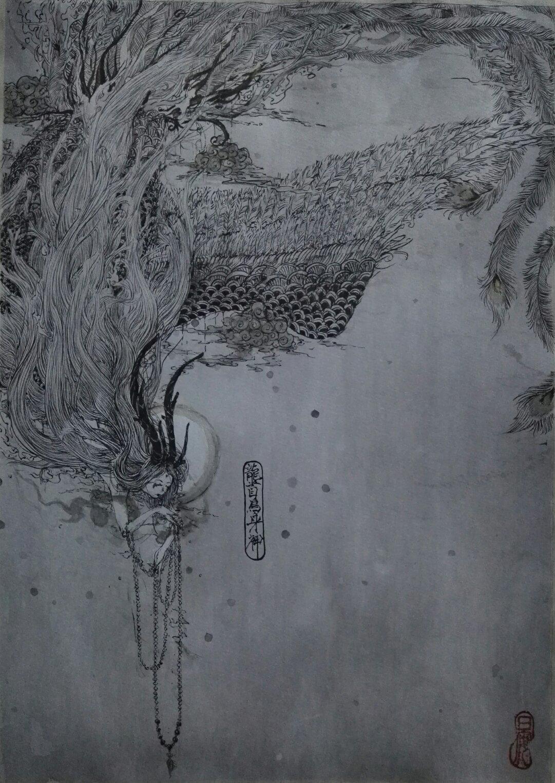 山海经水彩手绘