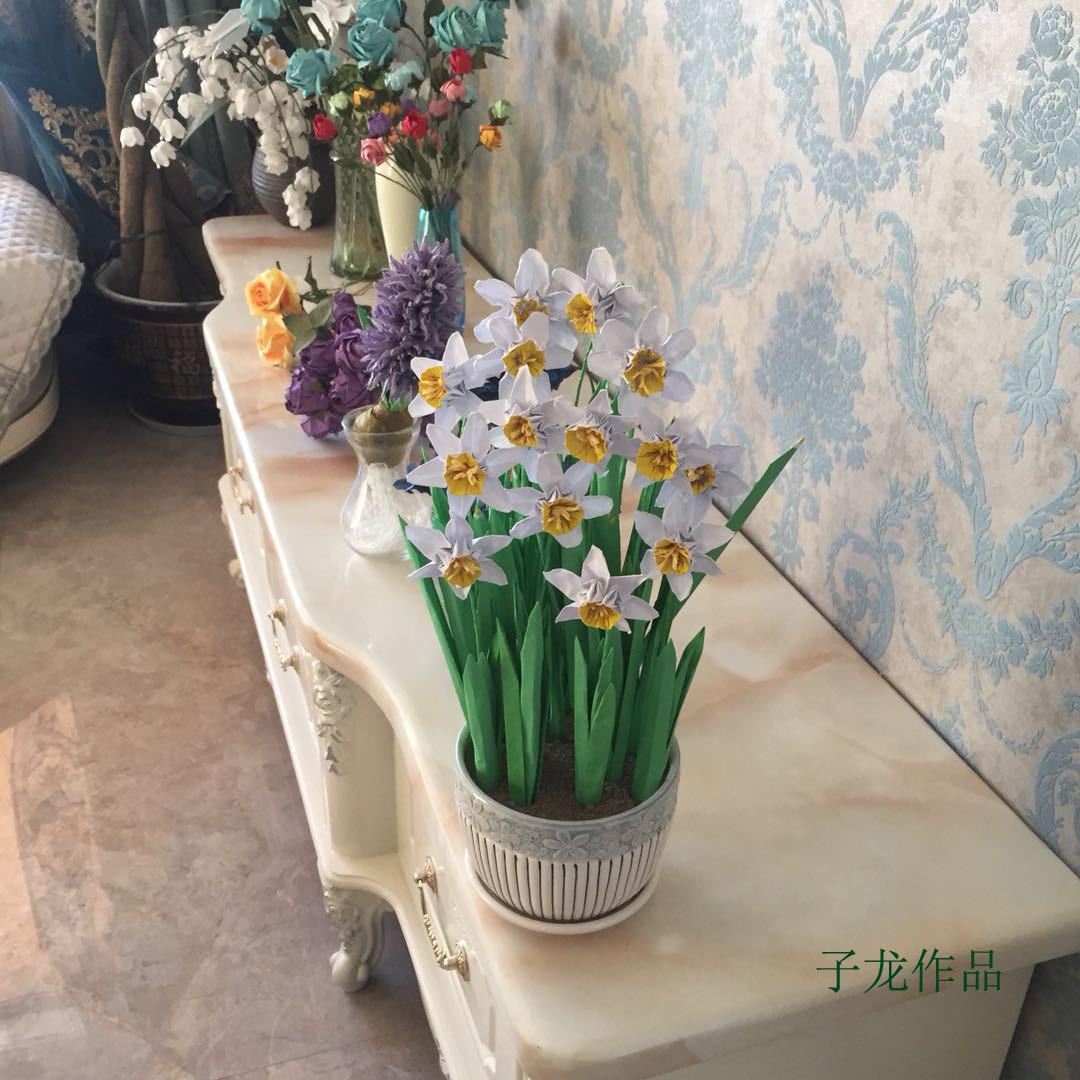 水仙花折纸花束 值得欣赏