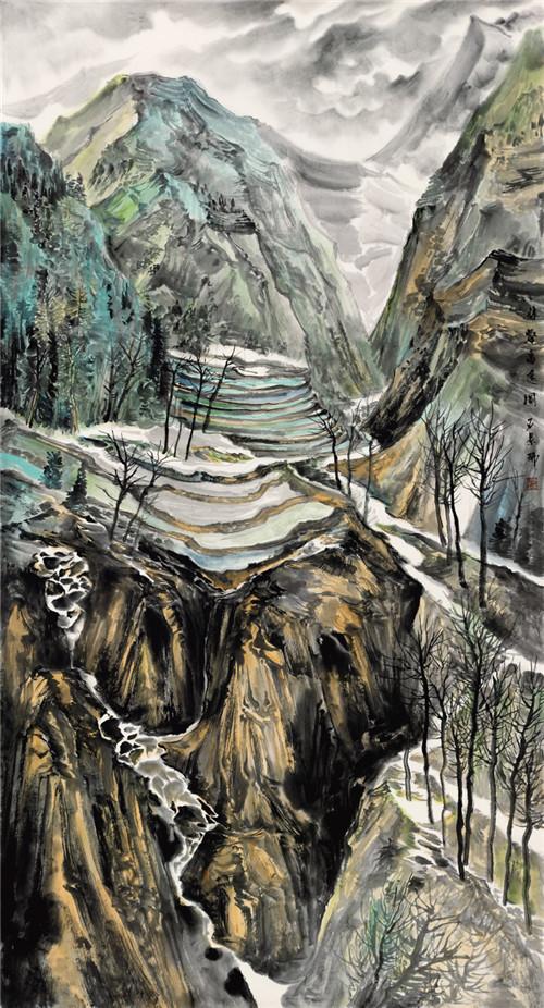 石景瑞山水作品展在唐山幕