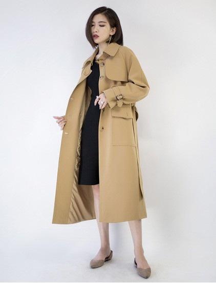 冬季女式风衣_秋装风衣女式中长款