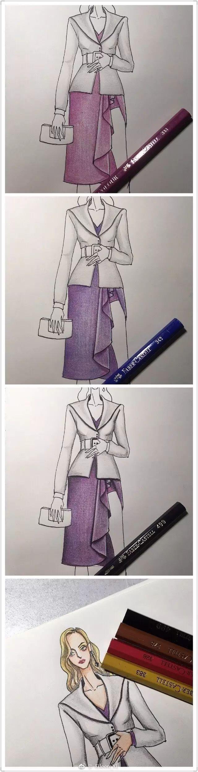超详细彩铅手绘服饰教程!不能错过!-服装时尚资讯--网