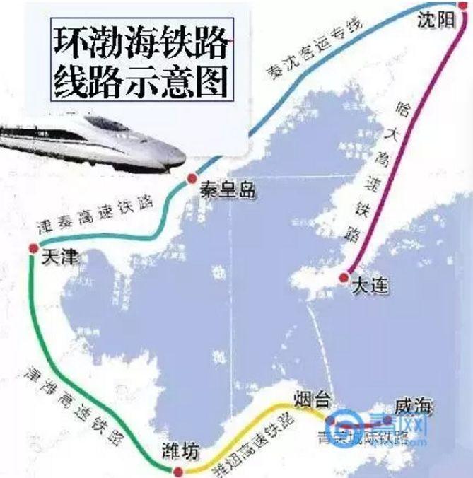 威海至青岛高铁路线图