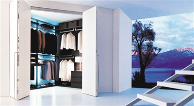 衣柜内部两开门结构图
