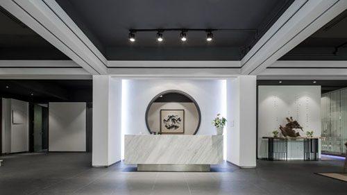 在现代中式风格办公室装修国传统室内设计融合喷绘v风格一般纳税人税率图片