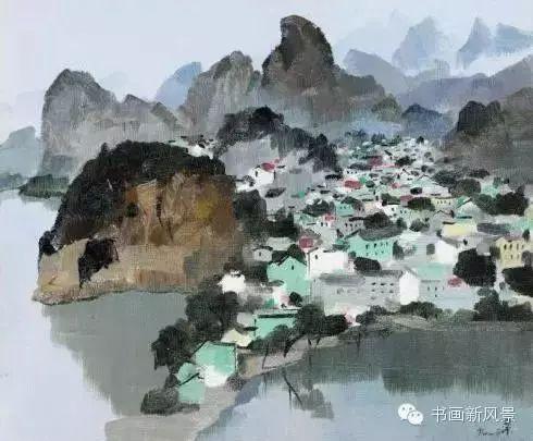 吴冠中 桂林 布面油画 1991年作
