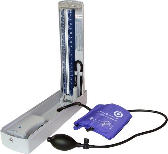 健康 正文  1,每次使用完以后,不要忘记一定要将血压计朝右边倾斜45度图片