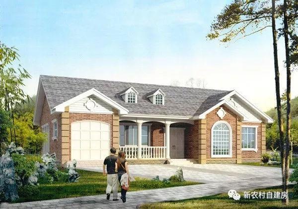 6款一层别墅自建房设计图,20万的小农村,款款带车库产品直播室装修设计效果图图片