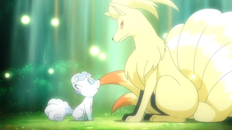 而在神奇宝贝中,九尾的形象还是一如既往的神秘美丽.