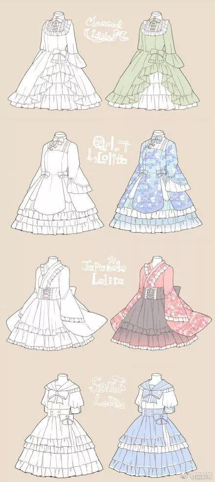 每一天,都要做一个小公主 | lolita小裙子画法图片