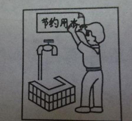 想.说.写)附范文《节约用水》图片
