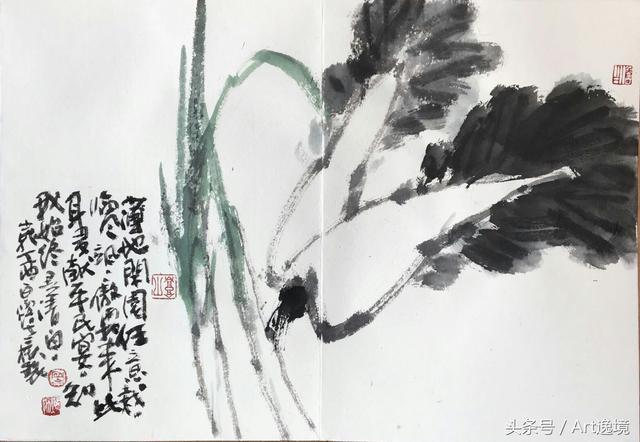文化 正文  作品《花木境心》入围《尚意2017全国中国画写意作品展》图片