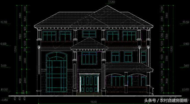 三层豪华农村别墅,带堂屋,中式和欧式结合,让全村都惊艳