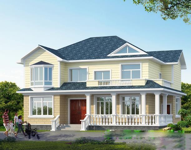 4套农村二层别墅设计效果图,第四套最漂亮,您觉得呢