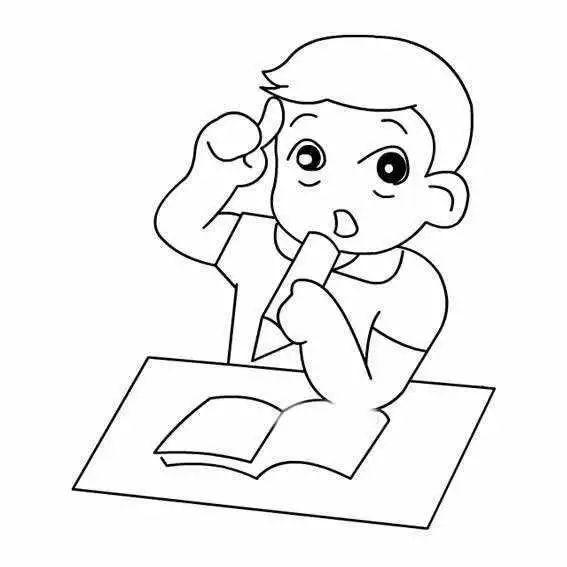 认真思考问题的男孩简单画法 怎么画思考的简笔画