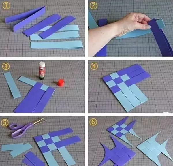 纸条小猪编织教程图解