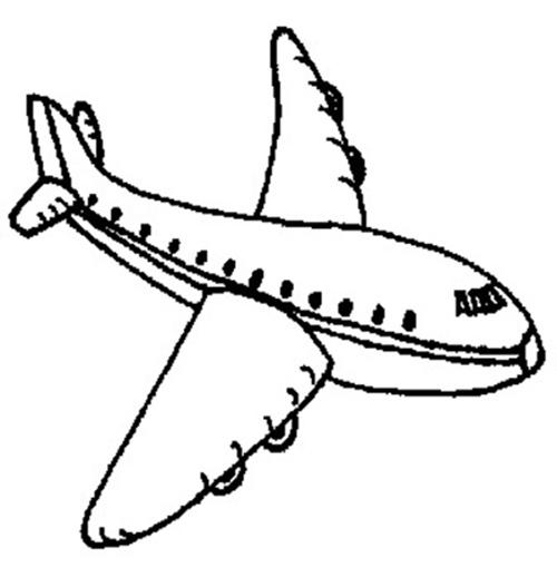 飞机的简笔画图片 儿童飞机简笔画图片 飞机简笔画 百人简笔画 儿童简