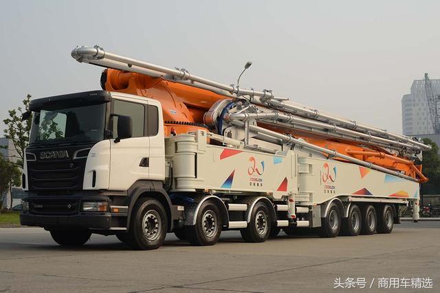 全球第一高!回顾斯堪尼亚r620底盘的中联重科101米泵车