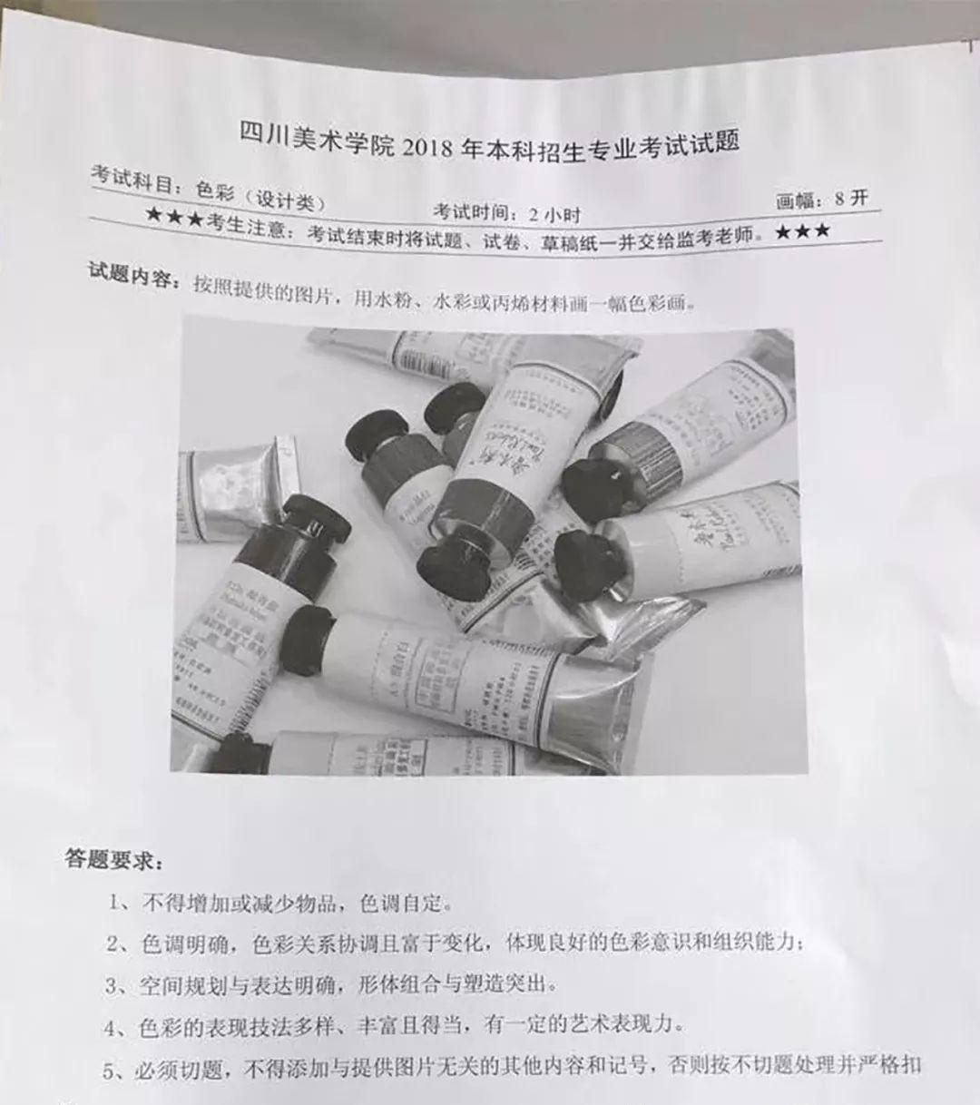 校考丨2018川美,吉林艺术学院校考贵州考点考题图片