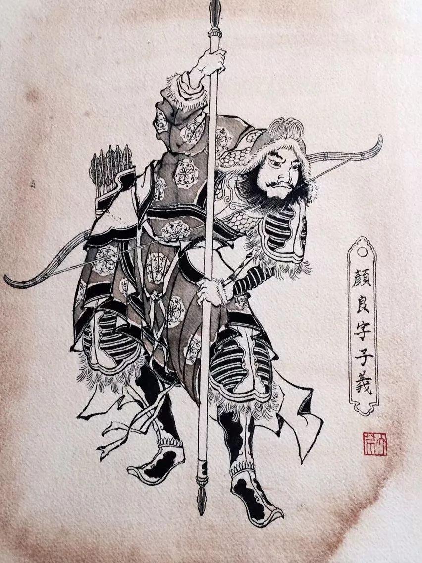 超酷霸气的满背关公赵云张飞纹身图片 - 798纹身网