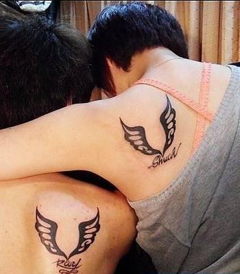 纹名字就别搞了,这些有意思的情侣刺青,分手也不怕图片