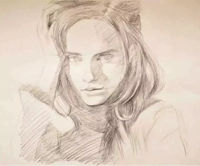 人物素描肖像完整版步骤图图片