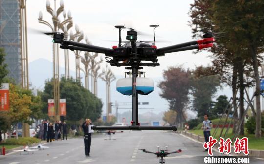 德清县地理信息小镇无人机产业 德清县新闻中心提供
