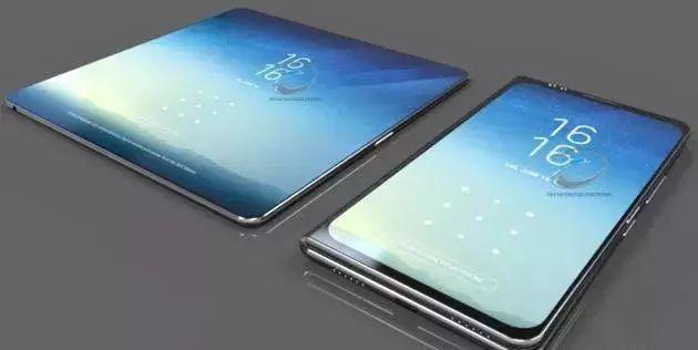 外媒曝光的三星折叠手机渲染图