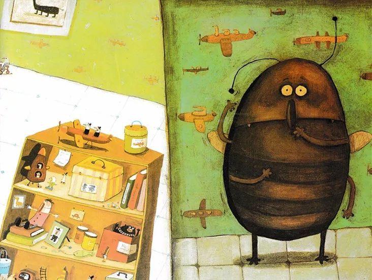 《卡夫卡变虫记》——教育家长的绘本-第4张图片-58绘本网-专注儿童绘本批发销售。