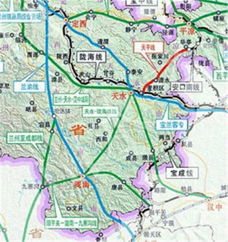 喜大普奔|兰州天水汉中三地高铁联通,400多公里途径天水一区两县!图片