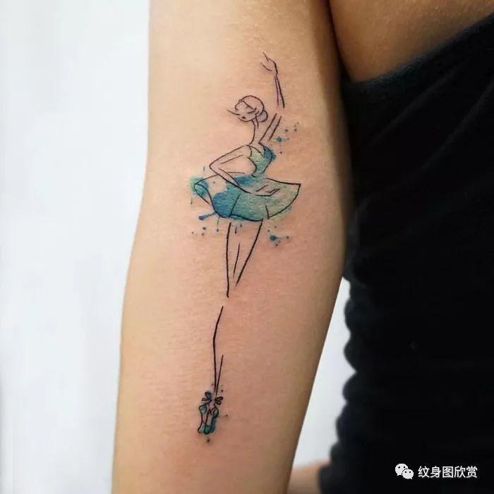 人物纹身 - 【芭蕾舞】女孩纹身图案