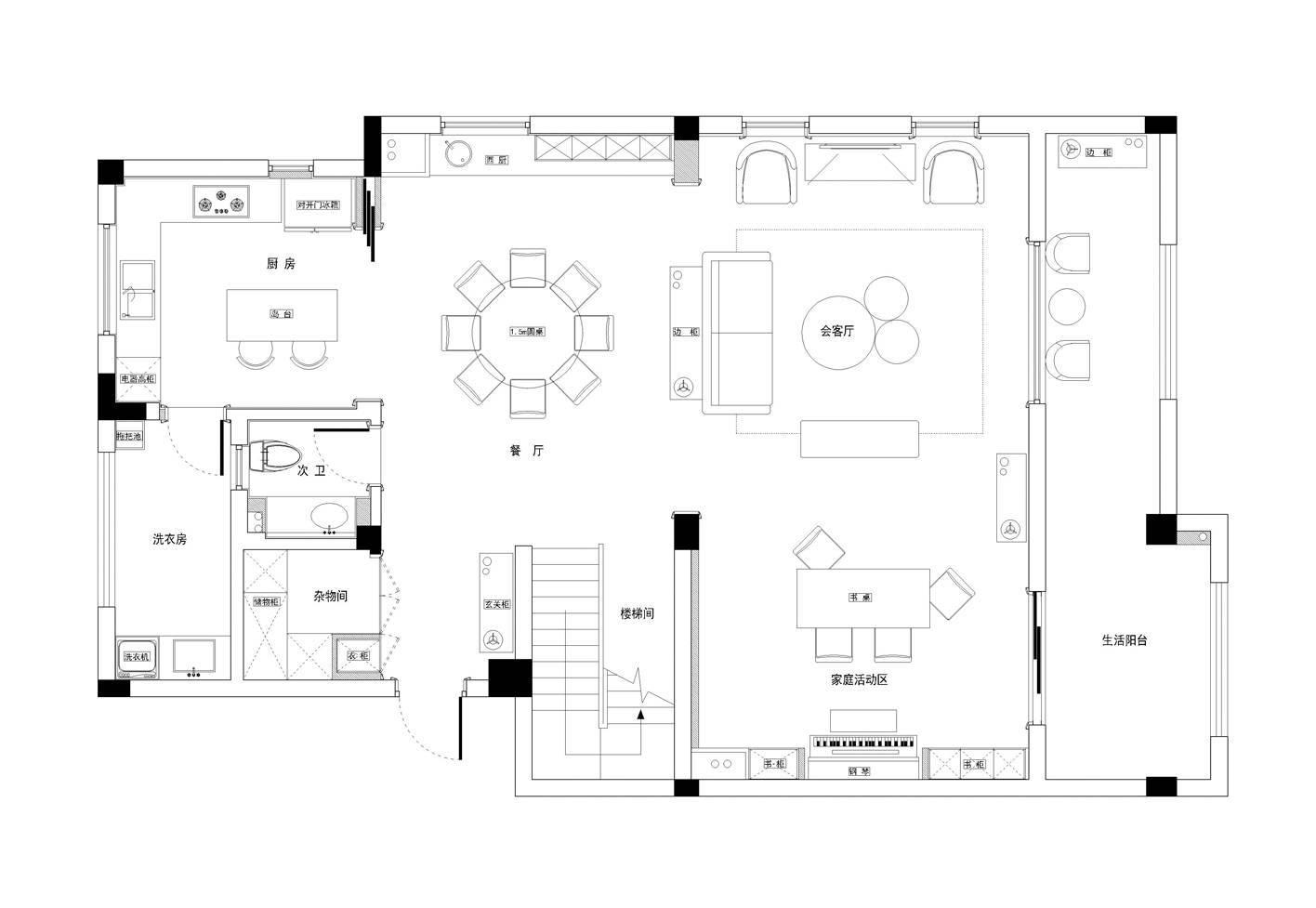 绘装新房▶混搭排屋设计,营造轻