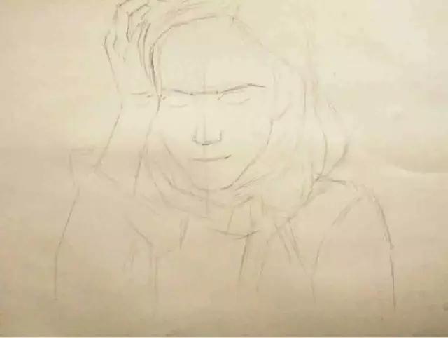 画人物头像素描的步骤