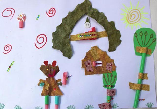 惟妙惟肖的剪贴画从整体设计到一步步制作实现,锻炼了孩子们的规划